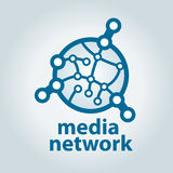 Logo and electronic media network Stock Photography