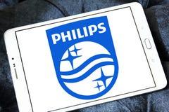 Philips logo. Logo of electronics company philips on samsung tablet Stock Image