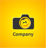 Logo element with camera Stock Image