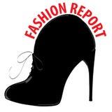 Stylish shoes, logo element Royalty Free Stock Photos