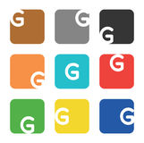 Logo element, letter G in square Stock Photography