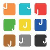 Logo element, letter J in square Stock Photo