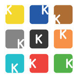 Logo element, letter K in square Royalty Free Stock Photo