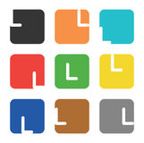 Logo element, letter L in square Royalty Free Stock Images