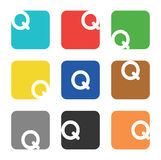 Logo element, letter Q in square Stock Photography