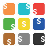 Logo element, letter S in square Stock Photography