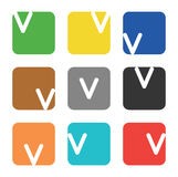 Logo element, letter V in square Stock Photo