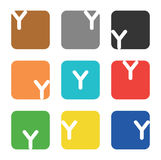 Logo element, letter Y in square Royalty Free Stock Image
