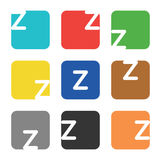 Logo element, letter Z in square Royalty Free Stock Photo
