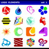 Logo elements. Set of 16 logo elements Royalty Free Stock Image