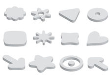 Logo elements - vector. Set 12 logo element icons in white coated, vector Royalty Free Stock Photos