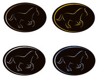 Logo ellips and horse Stock Images