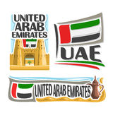 Logo Emirati Arabi Uniti di vettore Fotografie Stock