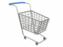 Logo Empty cart. 3d rendering empty bascket over white Royalty Free Stock Photo