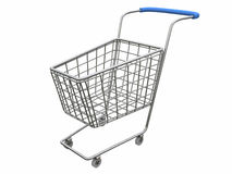 Logo Empty cart over white. Logotype Empty shop basket over white (see more in my portfolio Stock Image