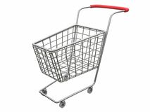 Logo Empty cart over white Royalty Free Stock Photos