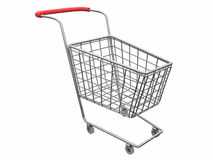 Logo Empty cart over white. Logotype Empty shop basket over white Stock Photography