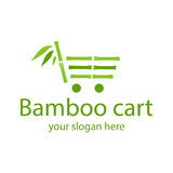 Logo en bambou Photo stock