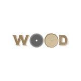 Logo en bois Images stock