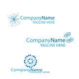 Logo en spirale de bleu d'effet Photographie stock
