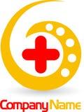 Logo en travers médical Images stock