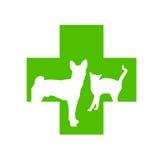Logo en travers vétérinaire Photographie stock