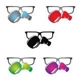 Logo en verre de Geeky Images stock