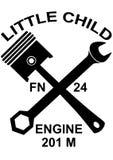 Logo engine 201M. Vektor little child Royalty Free Stock Image