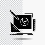 Logo, Entwurf, kreativ, Idee, Designprozess Glyph-Ikone auf transparentem Hintergrund Schwarze Ikone stock abbildung