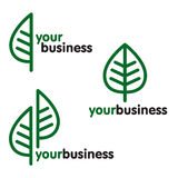 Logo environnemental Photo libre de droits