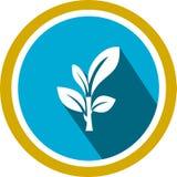 Logo et calibre d'image d'arbre illustration de vecteur