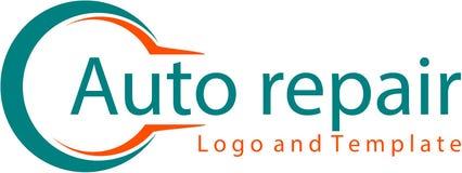 Logo et calibre de réparation automatique illustration stock