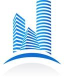 Logo et configuration -2 d'immeubles illustration libre de droits