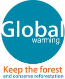 Logo et desaign de réchauffement global illustration stock