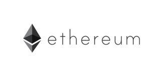 Logo of ethereum encryption technology Stock Image