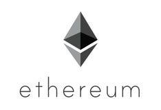 Logo of ethereum encryption technology Stock Photo