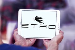 Etro fashion brand logo stock image
