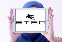 Etro fashion brand logo. Logo of Etro fashion brand on samsung tablet holded by arab muslim woman. Etro is an Italian fashion house royalty free stock image