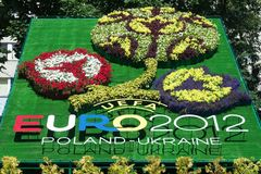 Logo of Euro-2012 stock photography