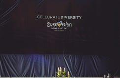 Logo Eurowizyjnej piosenki konkurs 2017 Ukraina Zdjęcia Royalty Free
