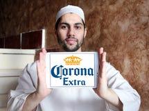 Logo extra della birra della corona Immagini Stock
