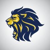 Logo fâché de tête de lion Images libres de droits