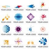 logo för 02 element stock illustrationer