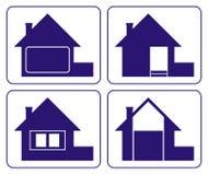 logo för 3 hus royaltyfri illustrationer