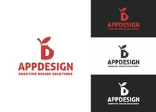 Logo för App-designbokstav D Arkivbilder