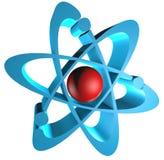 logo för atom 3D Arkivbilder