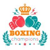 Logo för att boxas stock illustrationer