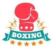 Logo för att boxas med handsken Arkivfoton