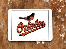 Logo för Baltimore Oriolesbaseballklubba royaltyfria bilder
