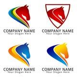 Logo för begrepp för hästhuvud Fotografering för Bildbyråer